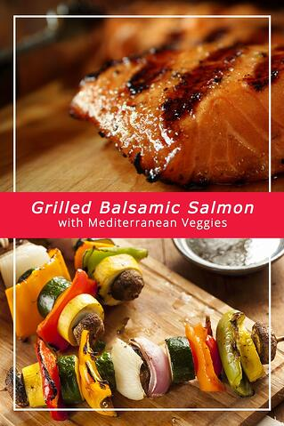 Mediterranean Grilled Balsamic Salmon with Vegetables