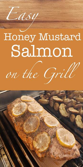 Easy Honey Mustard Salmon on the Grill with a Cedar Twist