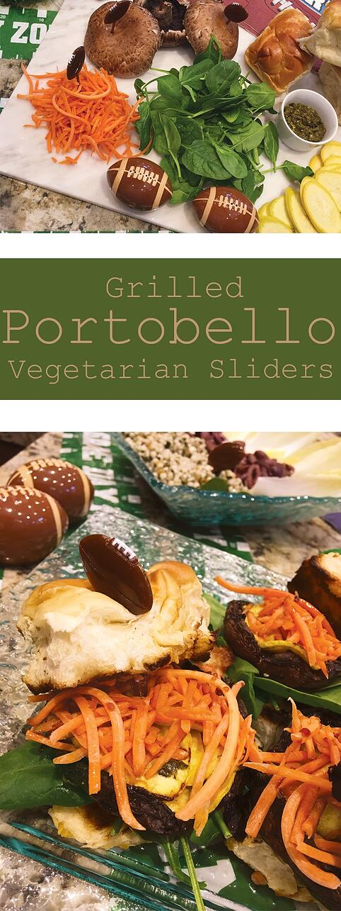 Grilled Vegetarian Sliders: Portobello Mushroom Style