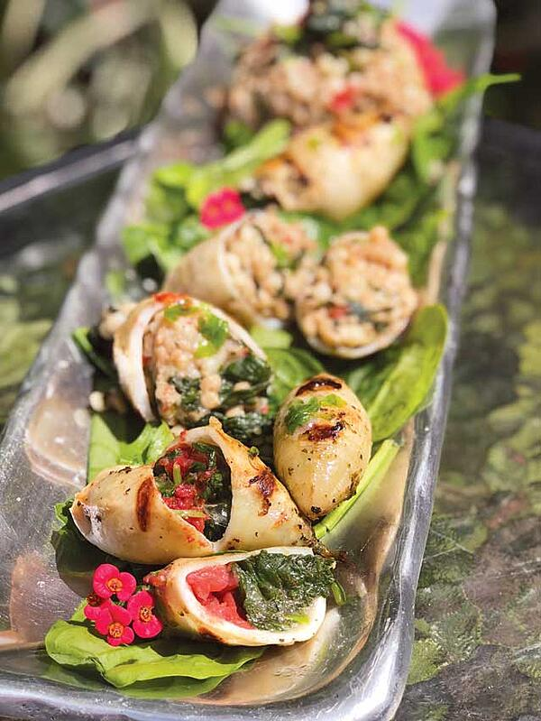 Grilled Stuffed Calamari: From Grecian Seas to Your Table